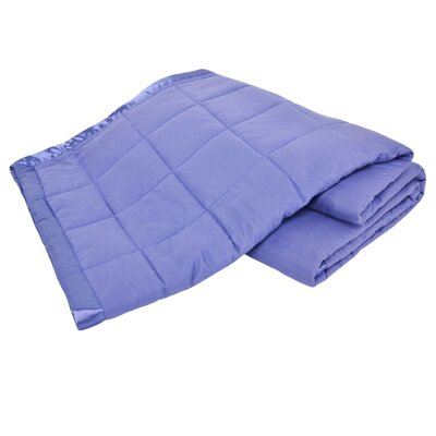 All Season Down Alternative Satin Trim Blanket Color: Medium Blue