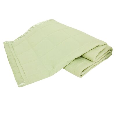 All Season Down Alternative Satin Trim Blanket Color: Sage