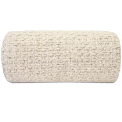 100% Cotton Blanket Color: Ivory, Size: King