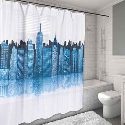 New York City Skyline Water Resistant Shower Curtain
