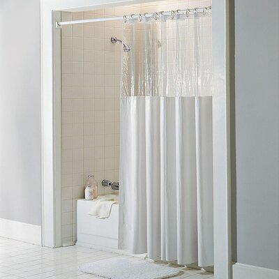 Vinyl See Through Bath Shower Curtain Color: White