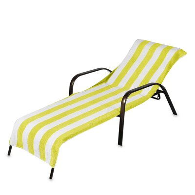 Chaise Lounge Cover (Set of 2) Color: Yellow
