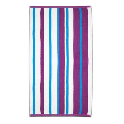Calypso Stripe Beach Towel Color: Magenta/Teal