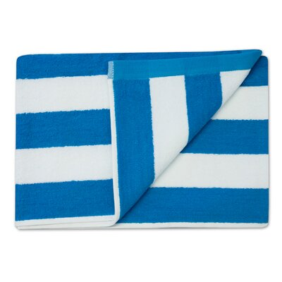 Havana Stripe Cotton Beach Towel Color: Teal
