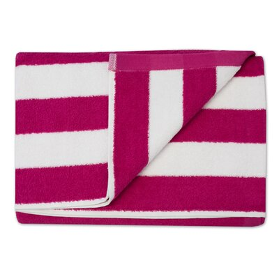 Havana Stripe Cotton Beach Towel Color: Fuchsia