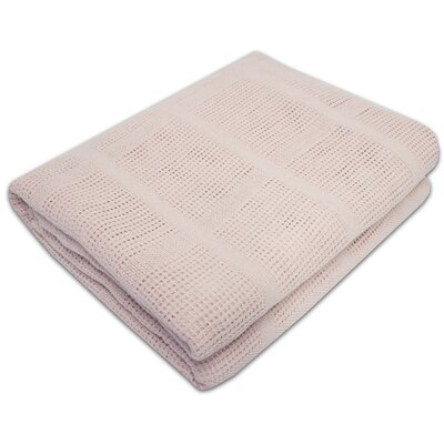 Cozy All Season Cotton Knit Blanket Color: Pink, Size: Full/Queen