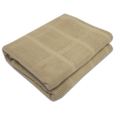 Cozy All Season Cotton Knit Blanket Color: Taupe, Size: Twin