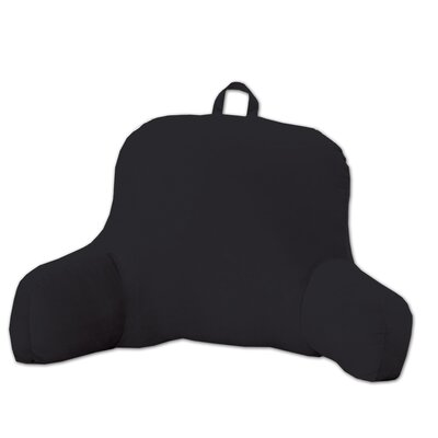 Plush Bed Rest Pillow Color: Black