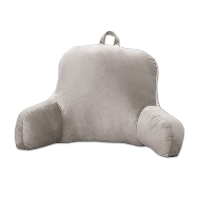 Plush Bed Rest Pillow Color: Gray
