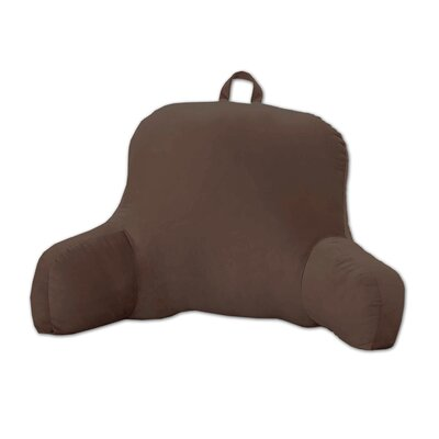 Plush Bed Rest Pillow Color: Chocolate