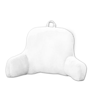 Plush Bed Rest Pillow Color: White