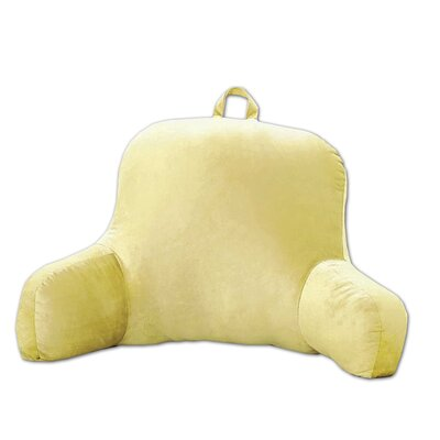 Saulsbury Plush Bed Rest Pillow Color: Yellow