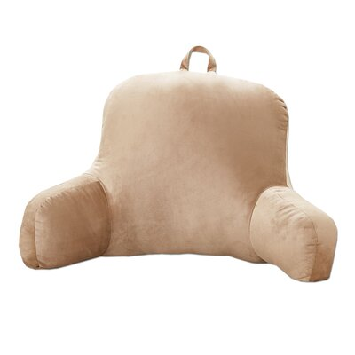 Plush Bed Rest Pillow Color: Taupe