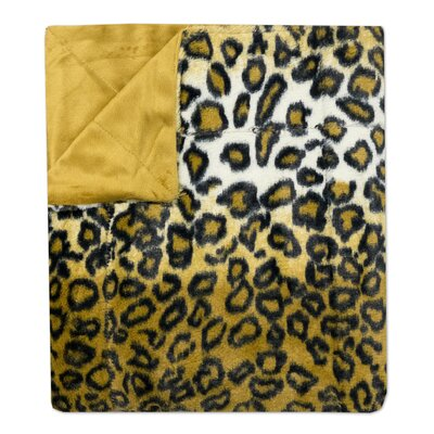 Leopard Print Plush Faux Fur Throw Blanket