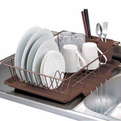 3 Piece Dish Drainer Set Color: Bronze