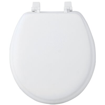 Fantasia Soft Vinyl Foam Cushioned Round Toilet Seat Finish: White