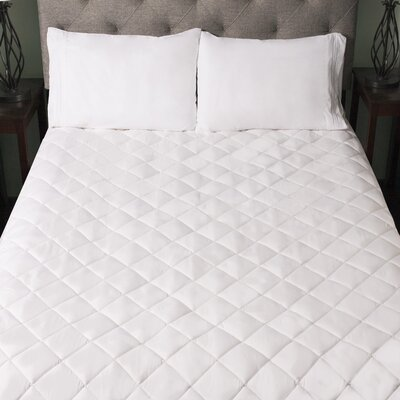 Snuggle Home Quilted Fitted Memory Foam Bed Mattress Pad Size: King