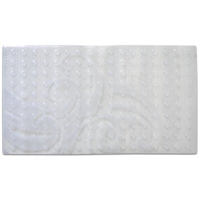 Raised Wave Pattern Sure Grip Vinyl Shower Mat Color: Clear