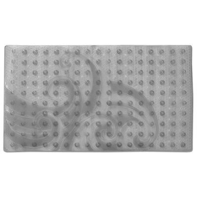 Raised Wave Pattern Sure Grip Vinyl Shower Mat Color: Gray