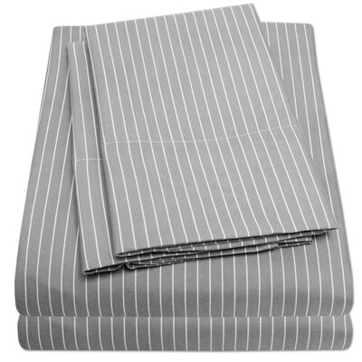 Bergeronnes Sheet Set Size: King, Color: Gray