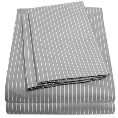 Loft Sheet Set Size: Twin, Color: Gray