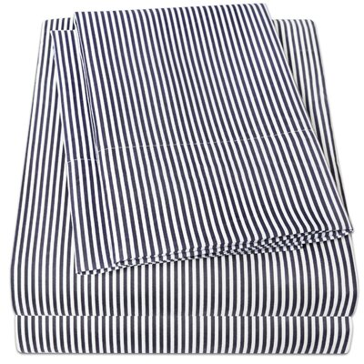 Loft Sheet Set Size: King, Color: Navy
