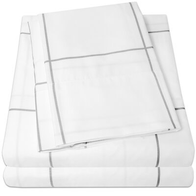 Loft Sheet Set Size: King, Color: White