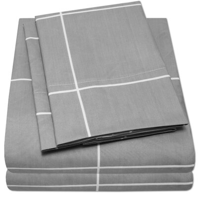 Loft Sheet Set Size: Full, Color: Gray
