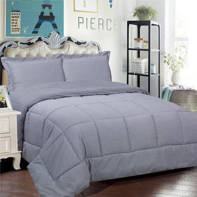 Loft 3 Piece Comforter Set Size: King, Color: Gray