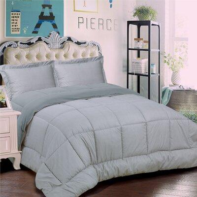 Loft 3 Piece Reversible Comforter Set Size: Full/Queen, Color: Gray