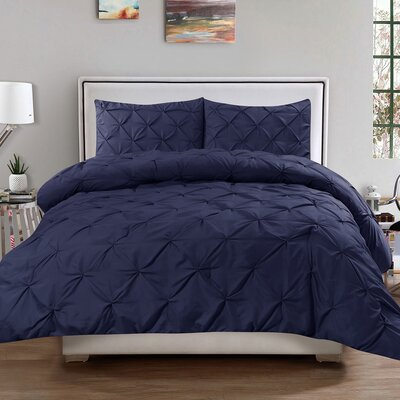 3 Piece Comforter Set Size: King, Color: Navy