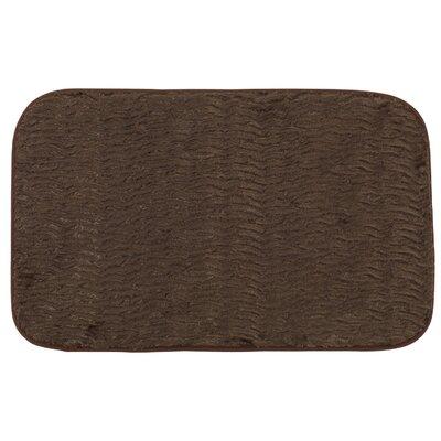 Faux Fur Cushioned Bath Rug