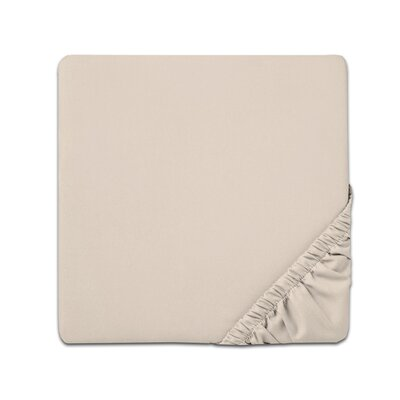 Fitted Sheet Color: Cream, Size: Twin