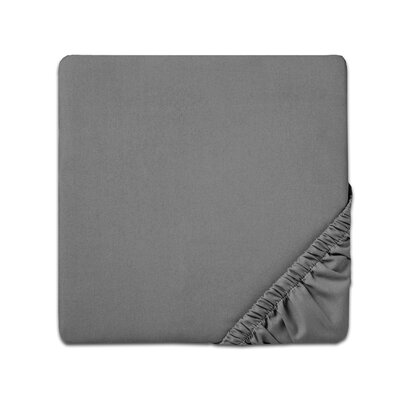 Fitted Sheet Color: Gray, Size: Twin