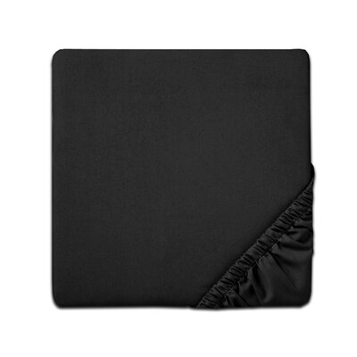 Fitted Sheet Color: Black, Size: Twin