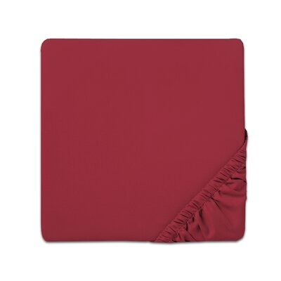 Fitted Sheet Color: Burgundy, Size: Full