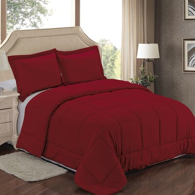Comforter Set Color: Burgundy, Size: King