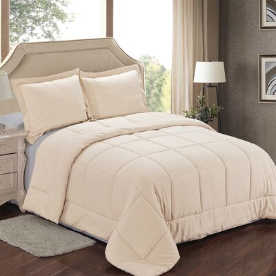 Comforter Set Color: Cream, Size: Full/Queen
