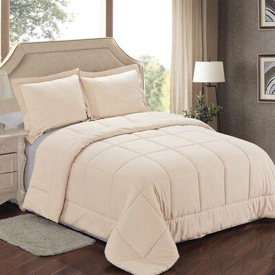 Comforter Set Color: Cream, Size: King
