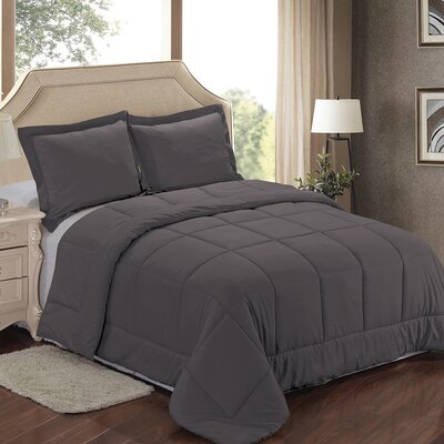 Comforter Set Color: Gray, Size: King