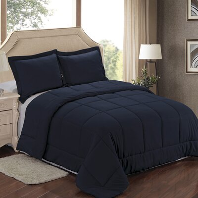 Comforter Set Color: Navy, Size: Twin