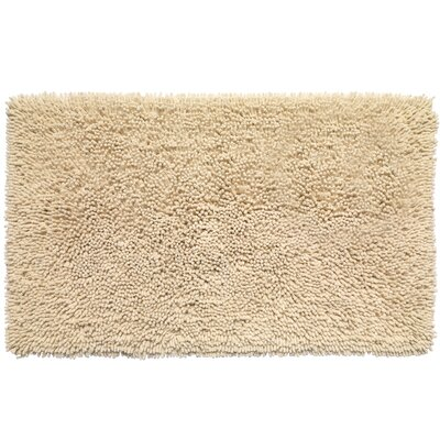 Shaggy Cotton Chenille Bath Rug Color: Ivory