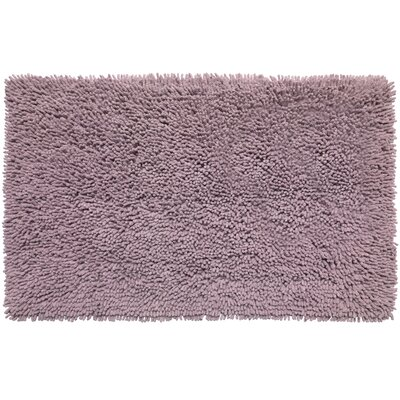Shaggy Cotton Chenille Bath Rug Color: Purple