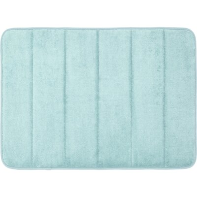 Super Soft and Absorbent Non Slip Memory Foam Bath Rug Color: Spa Blue