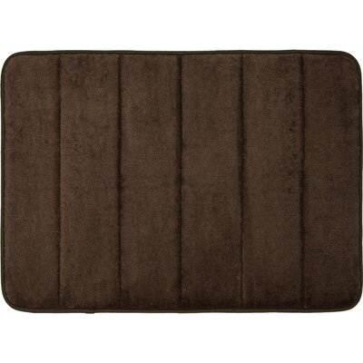Super Soft and Absorbent Non Slip Memory Foam Bath Rug Color: Chocolate