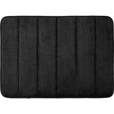 Super Soft and Absorbent Non Slip Memory Foam Bath Rug Color: Black