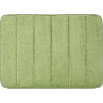 Super Soft and Absorbent Non Slip Memory Foam Bath Rug Color: Sage