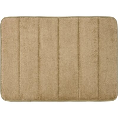 Super Soft and Absorbent Non Slip Memory Foam Bath Rug Color: Linen