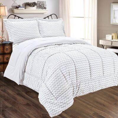 Chevron 3 Piece Comforter Set Size: Full/Queen