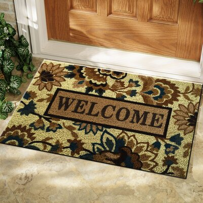 Isabelle Floral Patterned Welcome Doormat